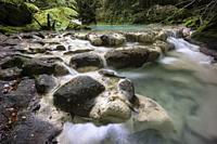 nacedero del rio Urederra, parque natural de Urbasa-Andia,comunidad foral de Navarra, Spain.