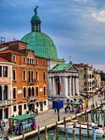 Chiesa di San Simeon Piccolo and Grand Canal, Venice, Italy.