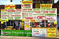 Fast Food Stand. Carnival of Miami. Florida. USA.