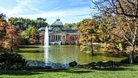 El Palacio de Cristal. El Retiro Park. Madrid. Spain.