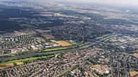 Aerial view of the River Main. Germany.