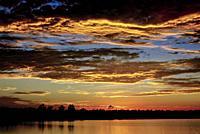 Sunset at The Everglades National Park. Florida. USA.