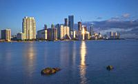 Biscayne Bay and Brickell Buildings. Miami. Florida. USA.