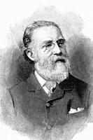 Justin McCarthy, Irish politician. Leader of the Irish National Federation. 1830-1912. Antique illustration. 1891.