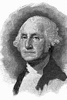 George Washington, first President of the United States. 1732-1799. Antique illustration. 1891.