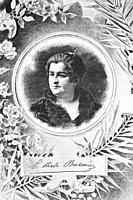 Emilia Pardo Bazán y de la Rua-Figueroa. Spanish writer, novelist, journalist. 1851-1921. Antique illustration. 1891.