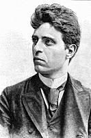 Pietro Mascagni. Italian Opera composer. His masterpiece, Cavalleria rusticana. 1863-1945. Antique illustration. 1891.