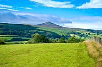 The Sugar Loaf forming part of the Black Mountains within the Brecon Beacons National Park, Monmouthshire UK. September 2020.