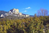 Castle. Loarre, Huesca province, Aragon, Spain.