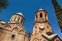 Georgia, Tbilisi, Mtatsminda Park, Georgian Pantheon Church, exterior