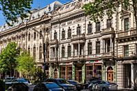 Georgia, Tbilisi, Rustaveli Avenue, building detail