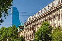 Georgia, Tbilisi, Rustaveli Avenue, Biltmore Hotel Tower