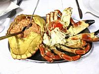 Stuffed crab, seafood.