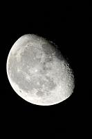 The Moon in the waning phase.