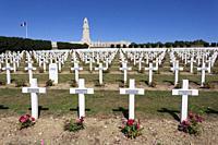 Necropolis of Fleury devant Douaomont, Verdun, Lorraine, France.