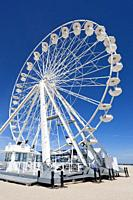 Big wheel in the Sword beach, Ouistreham, Normandy, France.