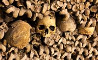 Catacombs of Paris, Ile de france, France.