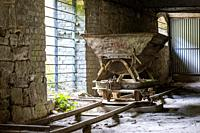Ruderdsdorf, Germany. Just outside Berlin a 19th century stone and raw materials processing factory turned into a museum, showing 150 years old indust...