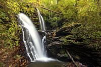 Reece Place Falls - Headwaters State Forest, near Brevard, North Carolina, USA.