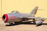 MIG-15 soviet fighter plane at the Pima Air and Space Museum in Tucson AZ.