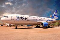 Orbis - Flying eye hospital MD DC-10 stored in Tucson AZ.