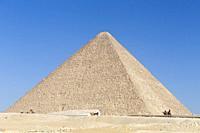 The pyramid of Khufu, Giza, Egypt.