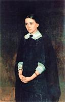 Yaroshenko Nikolai - Portrait of P. Strepetova - Russian School - 19th and Early 20th Century.