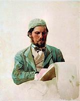 Yaroshenko Nikolai - Portrait of the Painter Ivan Kramskoy - Russian School - 19th and Early 20th Century.