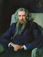 Yaroshenko Nikolai - Portrait of the Philosopher Vladimir Solovyov - Russian School - 19th and Early 20th Century.