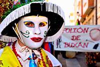 Puchos of Buxan. Entroido and parade of Viana do Bolo, Orense, Spain