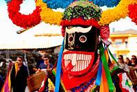Boteiros of Viana council. Entroido or carnival of Viana do Bolo, Orense, Spain.