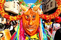 Boteiros of Viana council. Entroido or carnival of Viana do Bolo, Orense, Spain.