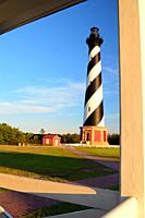 The Cape Hatteras Lighthouse on the Outer Banks of North Carolina.