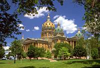 Des Moines Iowa State Capitol Building IA.