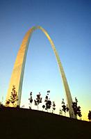The Arch at St Louis, Missouri.