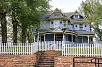Victorian architecture in Leadville, Americaâ. . s highest town, Colorado, USA.
