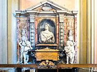 Funerary monument of Eleonora Boncompagni Borghese in the Basilica of Saints Bonifacio and Alexis on the Aventine hill - Rome, Italy.