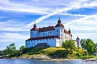 View of Baroque Läckö Castle on Kållandsö in Lake Vänern in Västergötland, Sweden.