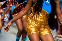 Afro-Colombian dancers of the Roma neighborhood perform during the San Pacho festival in Quibdó, Colombia, 28 September 2019. Every year at the turn o...