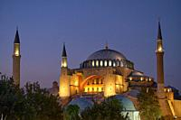 Hagia Sophia Church /Mosque in Istanbul at night.