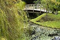 Japanese Garden, Mayne Island, Gulf Islands, British Columbia, Canada.