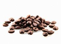 Fresh Roasted Coffee Beans Isolated On White Background.