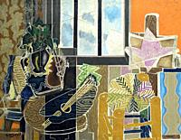 The Studio, Vase before a Window, Georges Braque, 1939, Metropolitan Museum of Art, Manhattan, New York City, USA, North America.
