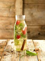 chamomile, cinnamon, raspberry and shiso relaxing water.