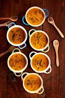 Pumpkin Cream with Mushrooms.