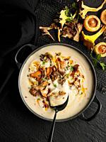 cauliflower and mushroom cream.