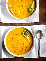 roasted carrot and cumin cream.