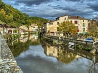 River Dronne, Brantome, Dordogne Department, Nouvelle-Aquitaine, FranceFrance.