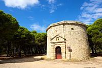 Hermitage, named as Ermita del Calvario in Borja, Zaragoza Province, Aragon in Spain.