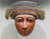 Mask of Coffin of Pekherkhonsu, Kushite Dynasty 25, el-Khokha Tomb, Upper Egypt, Thebes, Metropolitan Museum of Art, Manhattan, New York City, USA, No...